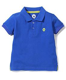 Vitamins Half Sleeves Polo Neck T-Shirt - Royal Blue