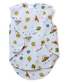 Dear Tiny Baby Wrap Vest - Blue