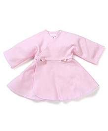 Dear Tiny Baby Long Sleeves Wrap Dress - Pink