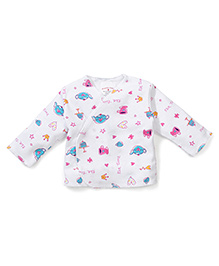Dear Tiny Baby Full Sleeves Vest - White