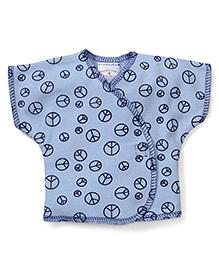 Dear Tiny Baby Short Sleeves Vest - Blue
