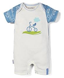 Little Wacoal Cycle Print Onesie - Blue
