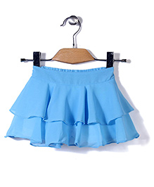 Chic Girls Stylish Skirt - Sky Blue