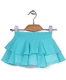 Chic Girls Stylish Skirt - Aqua Blue