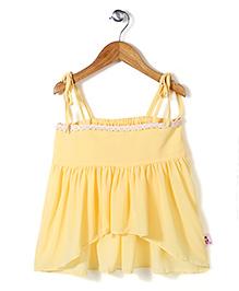 Chic Girls Singlet Top - Yellow