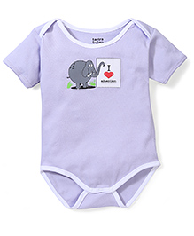 Tantra Half Sleeves Onesie I Love Attention Print - Lavender