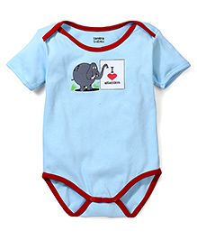 Tantra Half Sleeves Onesie I Love Attention Print - Blue