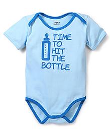 Tantra Half Sleeves Onesie Hit the Bottle Print - Blue
