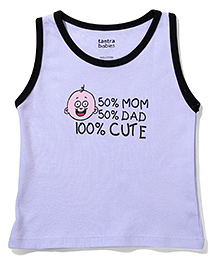 Tantra Sleeveless Vest 100% Cute Print - Lavender - 904489