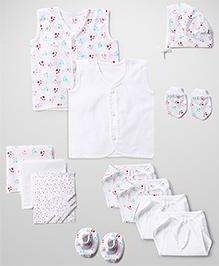 Babyhug Starter Set White - Pack Of 12
