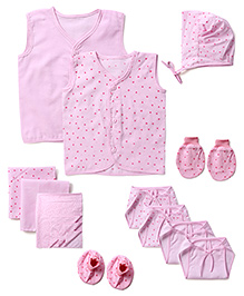 Babyhug Starter Set Pink - Pack Of 12