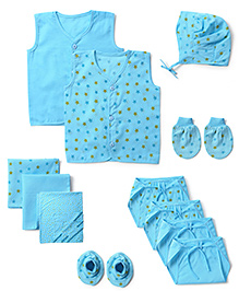 Babyhug Starter Set Blue - Pack Of 12
