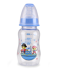 Mee Mee Plastic Premium Feeding Bottle Pirate Print Blue - 150 Ml