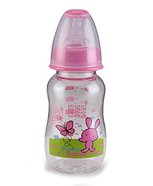 Mee Mee Plastic Premium Feeding Bottle Pretty Butterfly Print Pink - 150 Ml