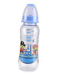 Mee Mee Plastic Premium Feeding Bottle Pirate Print Blue - 250 Ml