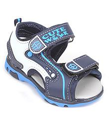 Cute Walk by Babyhug Sandals - Navy Blue & White