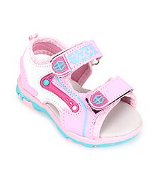 Cute Walk by Babyhug Sandals - Pink & White