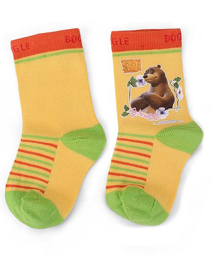 Mustang Jungle Book Socks Baloo Print - Yellow