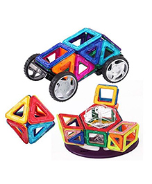 PlayWiz Magnetic Building Blocks Multicolor - 71 Pieces