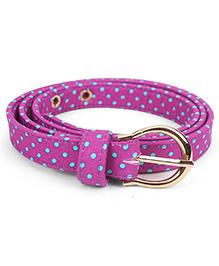 De Berry Dot Print Belt - Purple