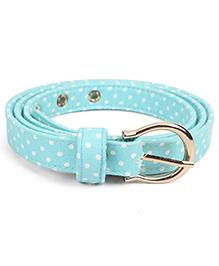 De Berry Dot Print Belt - Light Blue