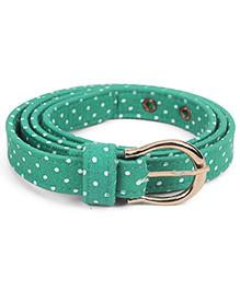 De Berry Dot Print Belt - Green