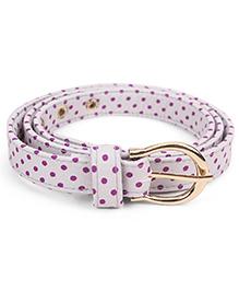 De Berry Dot Print Belt - Grey