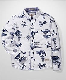 Police Zebra Junior Zebra Print Shirt - White