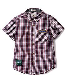 Police Zebra Junior Checks Print Shirt - Multicolor