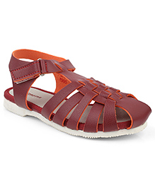 Kittens Shoes Casual Sandal Velcro Closure - Maroon