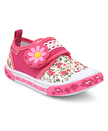 Kittens Shoes Canvas Casual Shoes Floral Applique - Pink