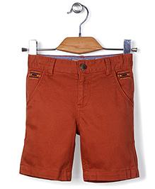 Police Zebra Junior Shorts - Red