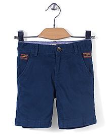 Police Zebra Junior Shorts - Blue