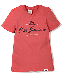 Police Zebra Juniors I'm Junior Print T-Shirt - Red