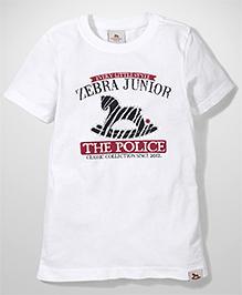 Police Zebra Juniors The Police Print T-Shirt - White