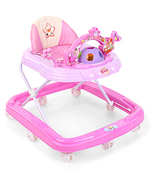 Musical Baby Walker with Play Tray - Pink