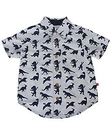 Nino Bambino Organic Cotton Shirt Dinosaur Print - Grey
