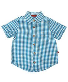 Nino Bambino Oragnic Cotton Check Shirt - Blue White