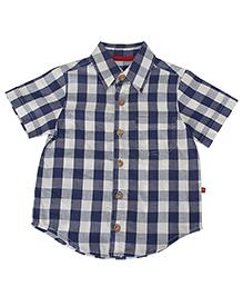 Nino Bambino Oragnic Cotton Check Shirt - Navy White