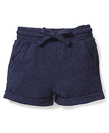 Fox Baby Shorts With Drawstring - Navy Blue