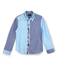 Lilliput Kids Full Sleeve Party Shirt - Blue