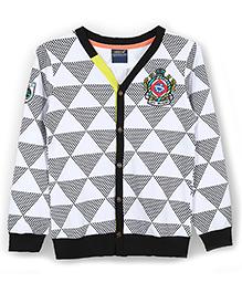 Lilliput Kids Full Sleeves Geometric Pattern Cardigan - Multicolor