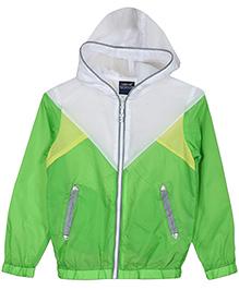 Lilliput Kids  Full Sleeves Hooded Jacket - Green