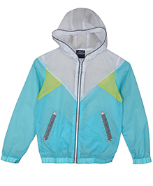 Lilliput Kids  Full Sleeves Hooded Jacket - Turquoise