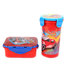 Hotwheels Mini Snack Box & Tumbler With Lid Eco Set - Red