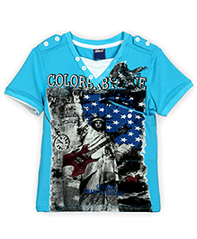 Lilliput Kids Half Sleeves T-Shirt - Turquoise