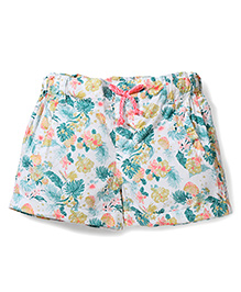 Pumpkin Patch Shorts Floral Print - Multi Color