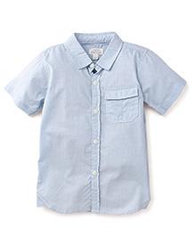 Pumpkin Patch Half Sleeves Shirt Dot Print - Blue