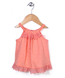 Pumpkin Patch Singlet Top Hakoba Pattern - Peach