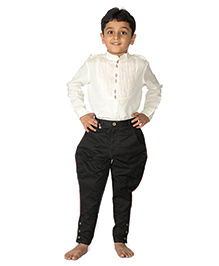 Tiber Taber Black Jodhpuri Breeches - Black